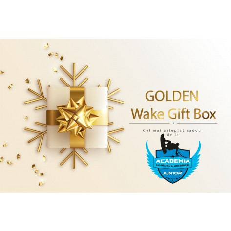 Cadou Gift Box Golden Wakeboarder