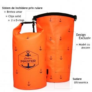 Rucsac impermeabil Outdoors MASTER 20L Portocaliu Dry Bag