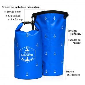 Rucsac impermeabil Outdoors MASTER 20L Albastru Royal Dry Bag