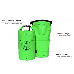 Rucsac impermeabil Outdoors MASTER 20L Verde Dry Bag