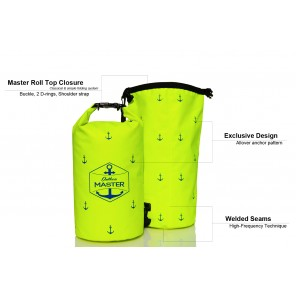 Rucsac impermeabil Outdoors MASTER 20L Galben Dry Bag